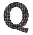 multicolor letter Q vector image