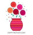 Original idea of Mothers Day - background with pot vector image vector image