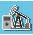 petrol pump isolated icon design vector image vector image