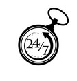 pocket watch time vector image vector image