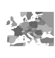 political map of central and southern europe vector image vector image