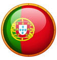 portugul on round badge vector image