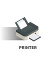 printer icon symbol vector image vector image