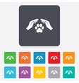 Protection of animals sign icon Hands vector image vector image
