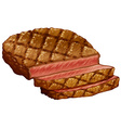 Ribeye steak vector image