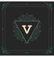 Royal Logo Design Template Flourishes vector image vector image