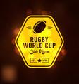 rugworld cup logo sport vector image vector image