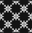 seamless pattern of geometric snowflake square vector image vector image