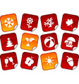 Seasons stickers vector image vector image