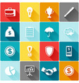 Set of business and finance flat icons vector image