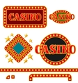 Set of casino signboards and borders with vector image vector image