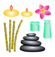 set of spa center elements for decoration of vector image