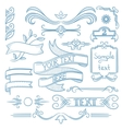 Set of vintage ribbons frames and elements vector image vector image