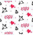 set valentines day hand drawn doodles icons vector image vector image