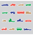 simple cars color stickers collection eps10 vector image