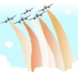 Smoke Color Sky Plane Parade Group Airplane Fly vector image vector image