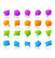 speech bubble simple gradient icon note set vector image vector image
