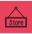store label hanging icon vector image vector image