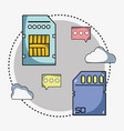 system data center information server vector image vector image
