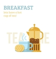 Tea cup and french press vector image vector image