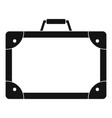 travel suitcase icon simple style vector image vector image