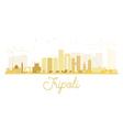 Tripoli City skyline golden silhouette vector image vector image