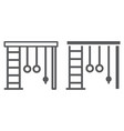 wall bars line and glyph icon sport and home gym vector image