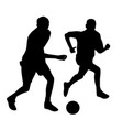 young men playing soccer vector image vector image