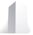 Realistic white package box for products put your vector image