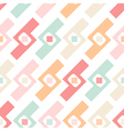 Seamless pastel geometric elements pattern vector image
