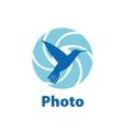 logo camera vector image