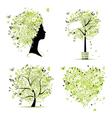 spring tree frame vector image