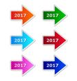 2017 arrows vector image