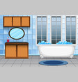 a modern bathroom interior vector image