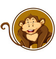 a monkey sticker template vector image vector image