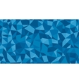 Abstract blue lowploly of many triangles vector image vector image
