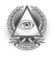 All seeing eye in delta triangle vector image
