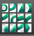 annual report brochure cover design layout set vector image vector image