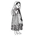 armenian doll vintage engraving vector image