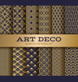 art deco seamless pattern luxury geometric vector image vector image