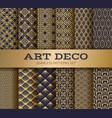 Art deco seamless pattern luxury geometric
