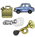 automotive objects vector image vector image