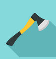 axe tool icon flat style vector image