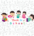 back to school sketches vector image vector image