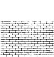 Brick wall of negative space vector