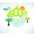 Bright Sunny House Scene vector image