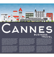 Cannes Skyline with Gray Buildings Blue Sky vector image vector image