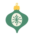 christmas decoration ball toy vector image