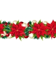 Christmas seamless border isolated on white vector image vector image