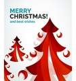 Christmas tree geometric design vector image vector image